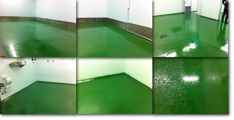 New resin floor for meat factory in Falkland Islands