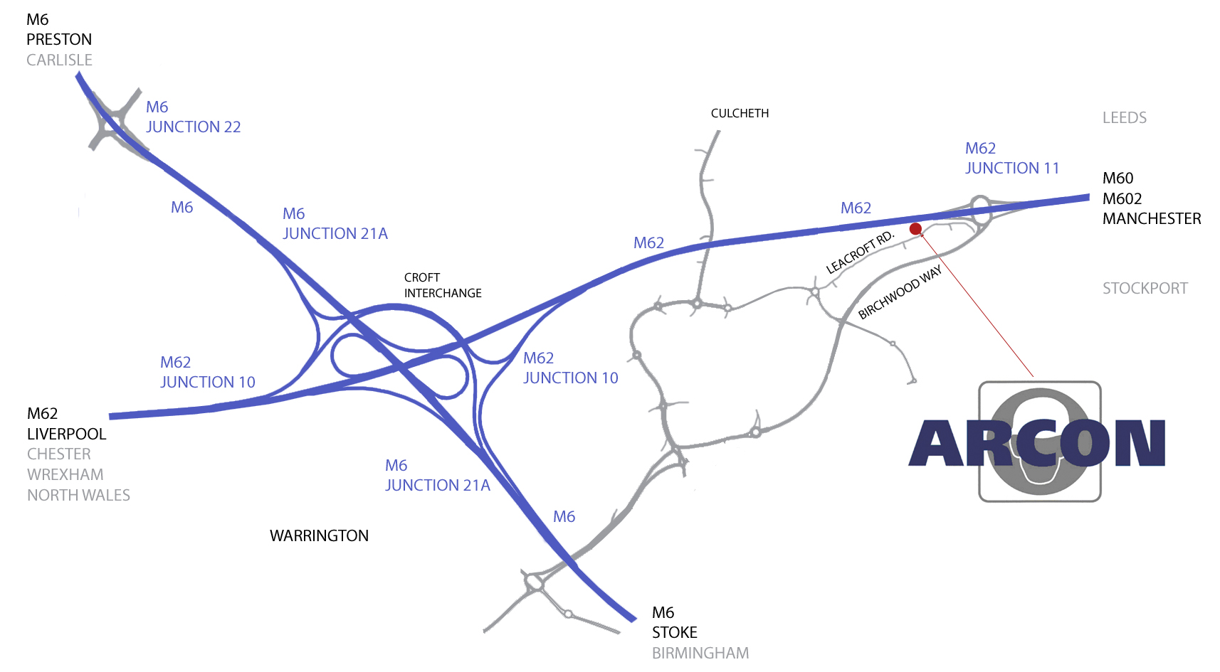 Arcon Warrington location close to Manchester