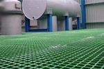 Chemically resistant anti-slip GRP grating grid grill for factories