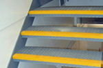 Ant-slip stair step nosings retro-fit metal stair