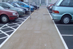 Anti-slip finish to car park, footpaths, roads, tarmac, macadam etc.