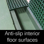 Anti-slip interior floor finishes, coatings & surfaces