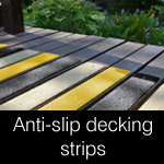 anti-slip strips for slippy timber decking