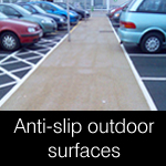 Outdoor anti-slip surfaces, coatings & paints