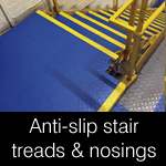 non-slip step nosings, tread covers, landing sheets and flooring