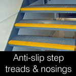 Anti-slip GRP hi-vis step & stair nosings & tread covers