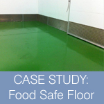 New hygienic food safe resin floor finish to meat factory
