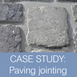 Paving jointing case study cobbled road surface