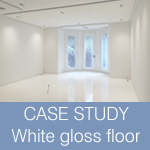 CASE STUDY: White Gloss Resin Floor for apartment