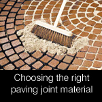 Choosing the right paving bedding materials