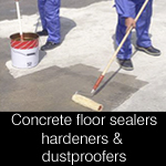 Concrete floor primers, dust proofers, sealers & hardeners