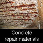 General concrete repair materials, for exposed rusting reinforcement steel bars