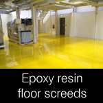 Epoxy resin floor screeds and coatings