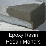 Epoxy resin repair mortars