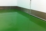 Temperature resistant floor coatings for factory freezers