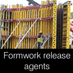 Formwork release agents and coatings