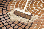Geofix brick, paving and stone flag dry brush-in rigid jointing sand