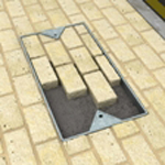 arcon ultrascape rigid paving jointing compound in manhole inset
