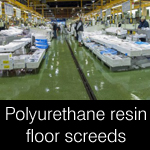polyurethane resin floor screeds