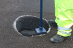 Instant cold permanent pothole repair to roads driveways paths cycle paths