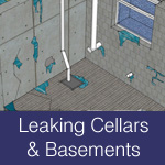 causes and fixes of leaking cellars and basements