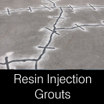 Resin injection grouts for floor crack repairs
