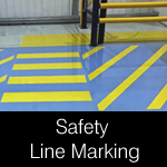Safety line marking paints suitable for abattoirs
