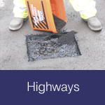 Highways roads pavements motorway installation maintenance & repair materials