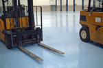 Heavy duty industrial resin screeds for factory floors