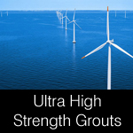 Ultra high strength grout 100 Newton plus for wind turbines etc