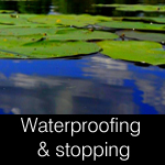 waterproofing & water-stopping for ponds, retaining walls, pools