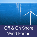 wind turbine grouts, off-shore wind farms, on-shore wind farms