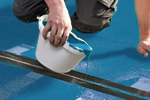 Coloured joint sealant for resin floor screeds in bakeries