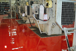 Highly chemical resistant floor coatings for factories