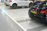 Resutop white resin line marking paint for indoor car park