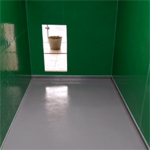 Ultra durable resin floor finishes to new dog kennels