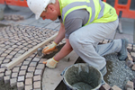 Trafficable paving build-up