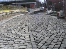 arcon bedding and jointing stone cobble setts