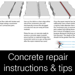 Concrete repair tips and instructions