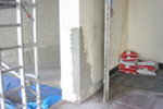Concrete wall corner jamb repair