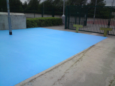 External polyurethane chemical resistant paint coating