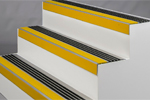 SlipGrip Aluminium GRP anti-slip full landing tread & nosing cover plates natural colours