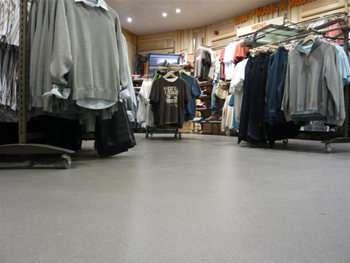 Resin floor finishes for shops and shopping centres